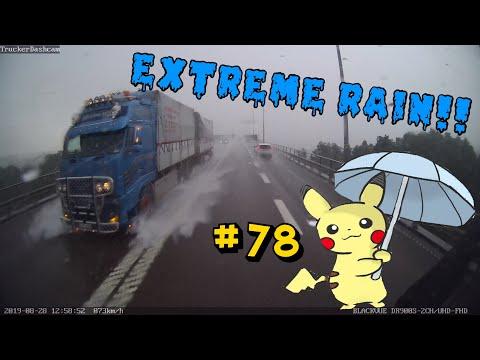 Trucker Dashcam #78 Extreme Rain!!