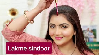 Lakme Jewel sindoor review maroon RARA liquid sindoor