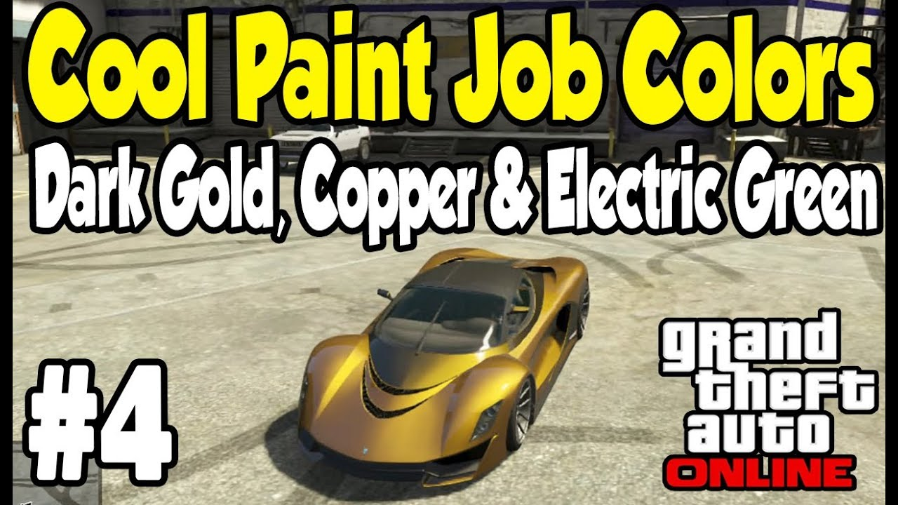 GTA Online - COOL PAINT JOB GUIDE #4 (Dark Gold, Copper