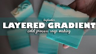 Layered Gradient | Cold Process Soap Making | kaylamber