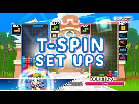 Puyo Puyo Tetris: T-Spin Set Ups Tutorial