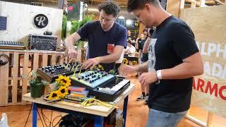 Moog Portable Synth Set Up - Moog Modular Marketplace- Moogfest 2018