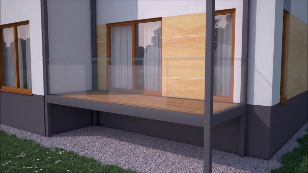 Animacja Balkon Instrukcja Balkony Tarasy Dostawne Przystawne Aluminiowe Euro Technics