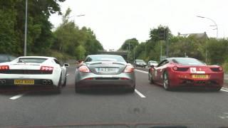 Lamborghini vs SLR vs Ferrari