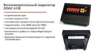 Весоизмерительный индикатор ZEMIC A12E