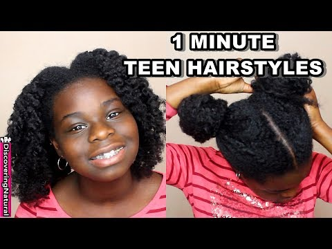 4 Easy Teen Natural Hairstyles You Can Do Yourself in 1 Minute