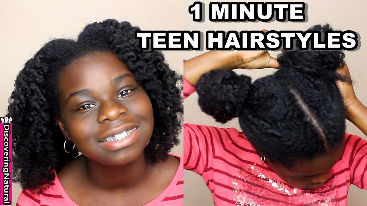 4 easy teen natural hairstyles