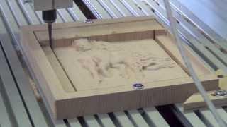 CNC machine: Фрезерование барельефа лошади