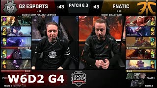 G2 eSports vs Fnatic | Week 6 Day 2 of S8 EU LCS Spring 2018 | G2 vs FNC W6D2 G4