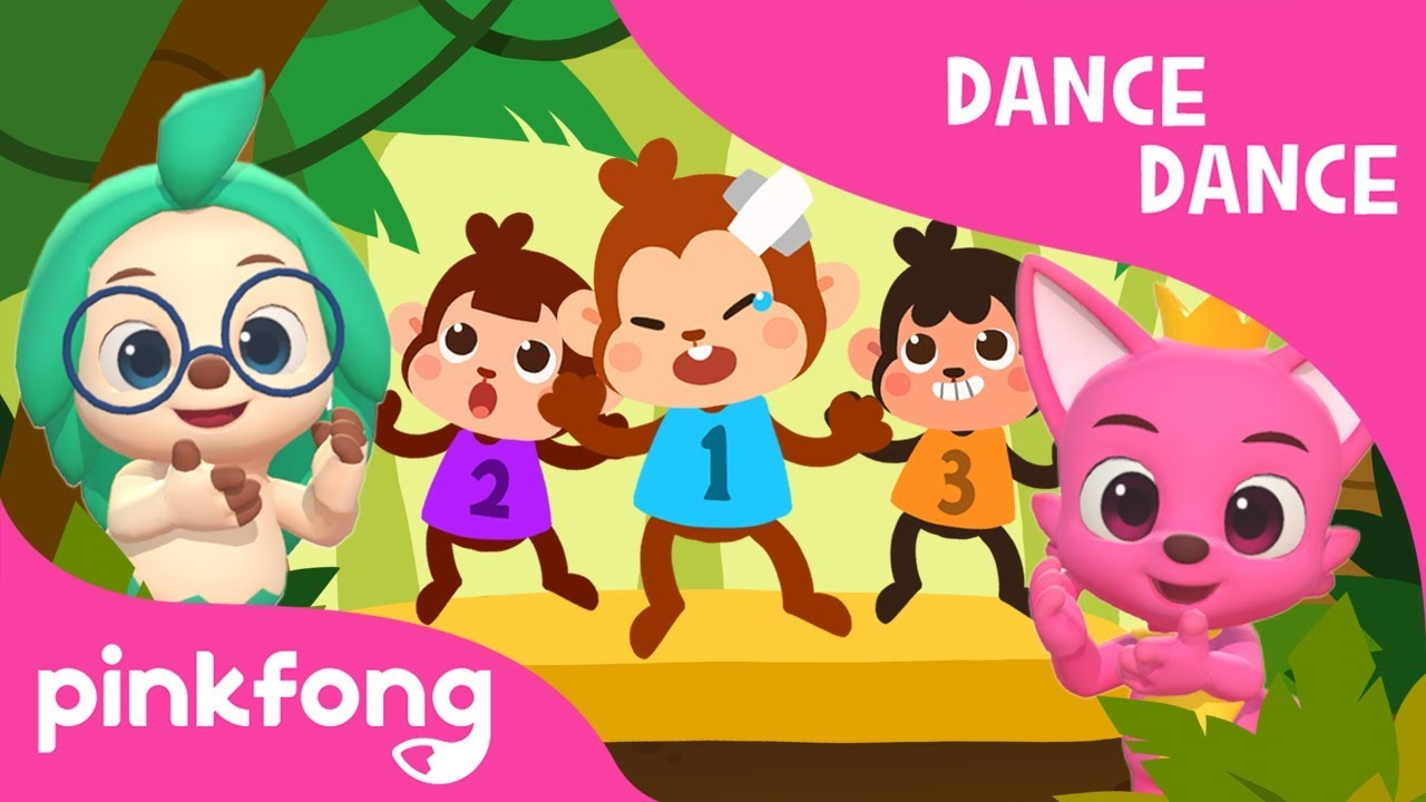 Five Little Monkeys | 3D Nursery Rhymes | Dance Dance | Pinkfong Songs for Children
