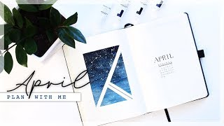 APRIL 2019 Plan With Me // Bullet Journal Monthly Setup