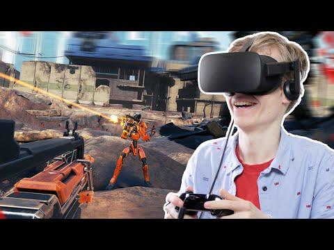 FUTURISTIC VR SHOOTER GAME | Damaged Core (Oculus Rift CV1 Gameplay)