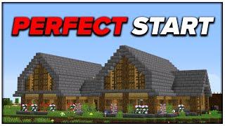 Minecraft Hardcore #1   The PERFECT Start to a Hardcore World