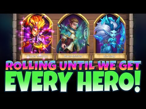 JT's Main Rolling ALL Heroes INSANE Session 200k Gems Castle Clash