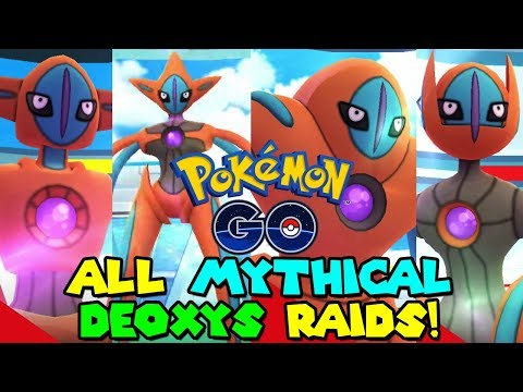 ALL DEOXYS FORMS CAUGHT IN POKEMON GO (Normal, Attack, Defence, Speed)
