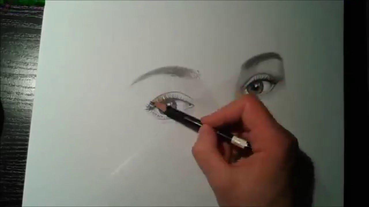 Szkic Portretu Ołówkiem Anna K Youtube