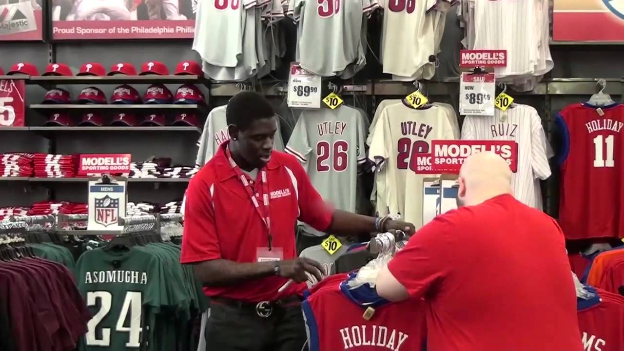 jrue holiday as modell u0026 39 s employee selling his own jersey