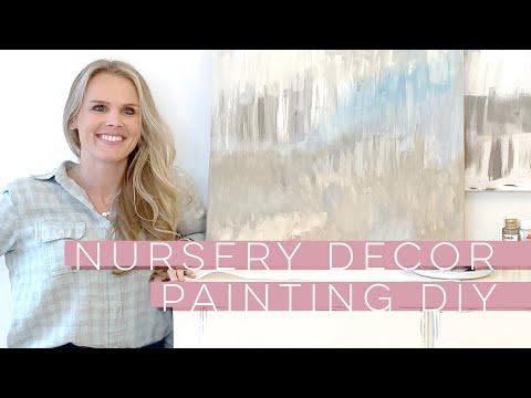 Diy Nursery Decor Painting Youtube