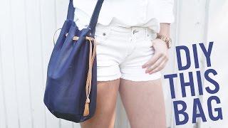 DIY BUCKET BAG/ PURSE FOR SUMMER