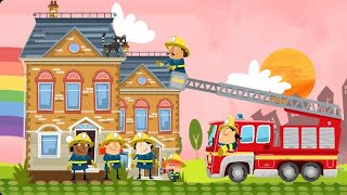 Little fire fighters and fire station.Fun games for kids 2020.Created by cartoon tv bd.