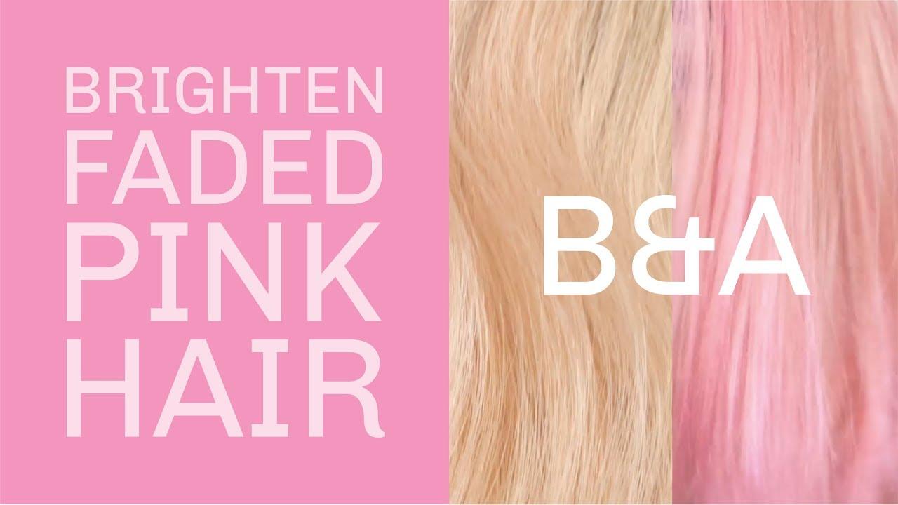 Pastel Pink Deep Treatment Over Platinum Blonde Hair Youtube