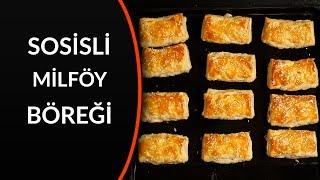 milföy hamurundan sosisli börek