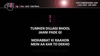 Tumhen dillagi bhool jani paregi - With Chorus - Video Karaoke - Nusrat Fateh Ali - by Baji Karaoke