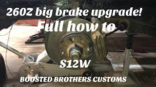 Datsun S12W big brake kit, full detailed how to! thumbnail