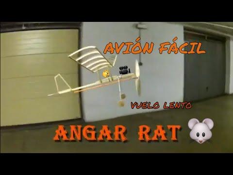 Avión Con Motor De Gomas HANGAR RAT