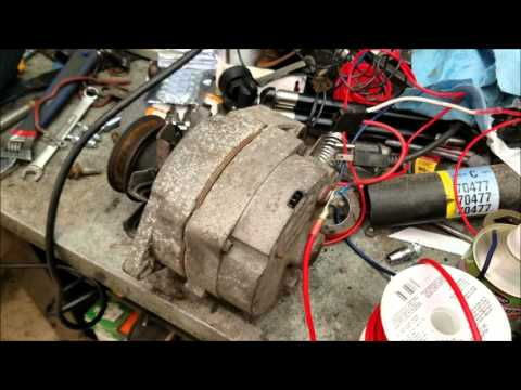 1984 vw rabbit diesel part 5 - how to install a gm alternator on anything   - youtube