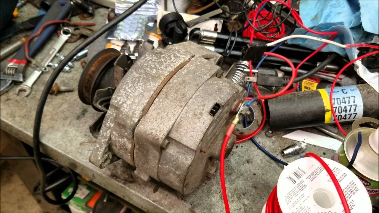 1984 vw rabbit diesel part 5 how to install a gm alternator on anything  [ 1280 x 720 Pixel ]