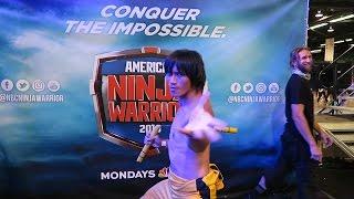Ninja Nate on American Ninja Warrior Bruce Lee Cosplay