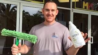 What type and how much soap to do window cleaning