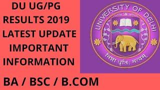 DU Results 2019  for UG/PG (Nov-Dec) Exam, Check Delhi University Results at du.ac.in | BA/BSC/B.COM