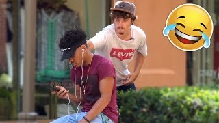 CUTTING PEOPLES HEADPHONES PRANK! (FUNNY)