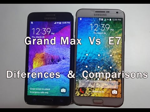 Samsung Galaxy Grand Max Vs Samsung Galaxy E7