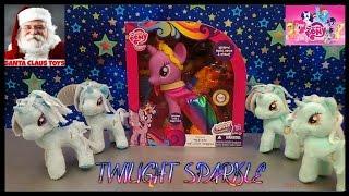 SANTA CLAUS: GIANT TWILIGHT SPARKLE My Little Pony Surprise unboxing