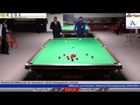Malkeet Singh (RSPB) vs Sumit Talwar (CH) Final National Snooker 2018(Bangalore)