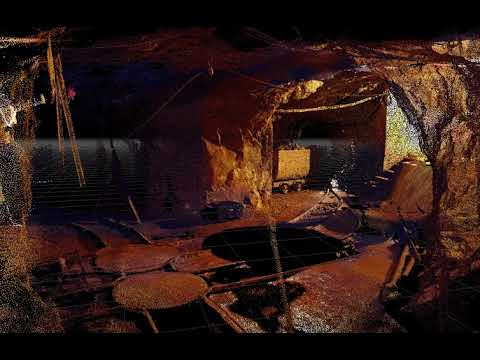 Mine exploration recreated by 3D Laser Scanner