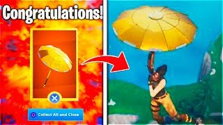 "NEW! How To UNLOCK! ""GOLDEN UMBRELLA"" - Fortnite Free GOLDEN! Umbrella (Fortnite Battle Royale)"