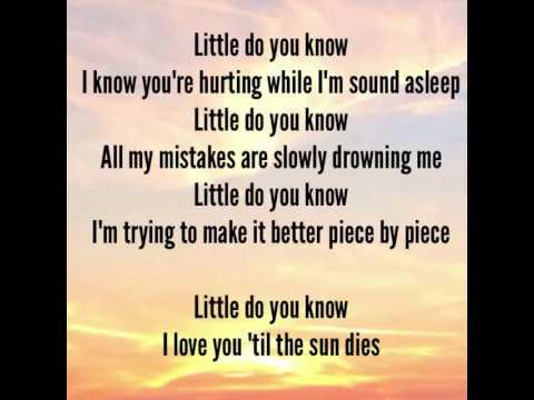 Alex Sierra Lyrics Little Do You Know Lyrics Video Ifeel