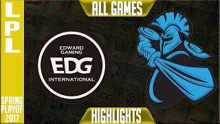 EDG vs Newbee Highlights All Games - LPL Spring 2017 Playoffs - EDG vs NB All Games