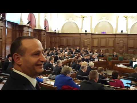 The Latvian parliament honoring Citizenship to Mr. Gerard Renno