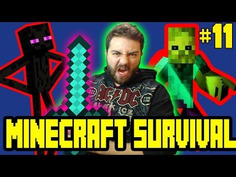 Minecraft Survival Bölüm 11 - Metro Yapımı [ 1.10.2 ] /w Gitaristv /w T.E.O /w Eso