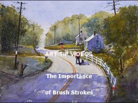 Watercolor painting steps, The Importance of Brush Strokes by Judy Mudd