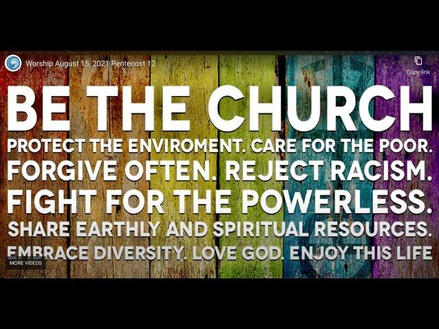 Worship October 3, 2021   World Communion Sunday