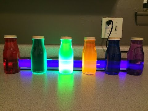 DIY: Blacklight Glass Bottles