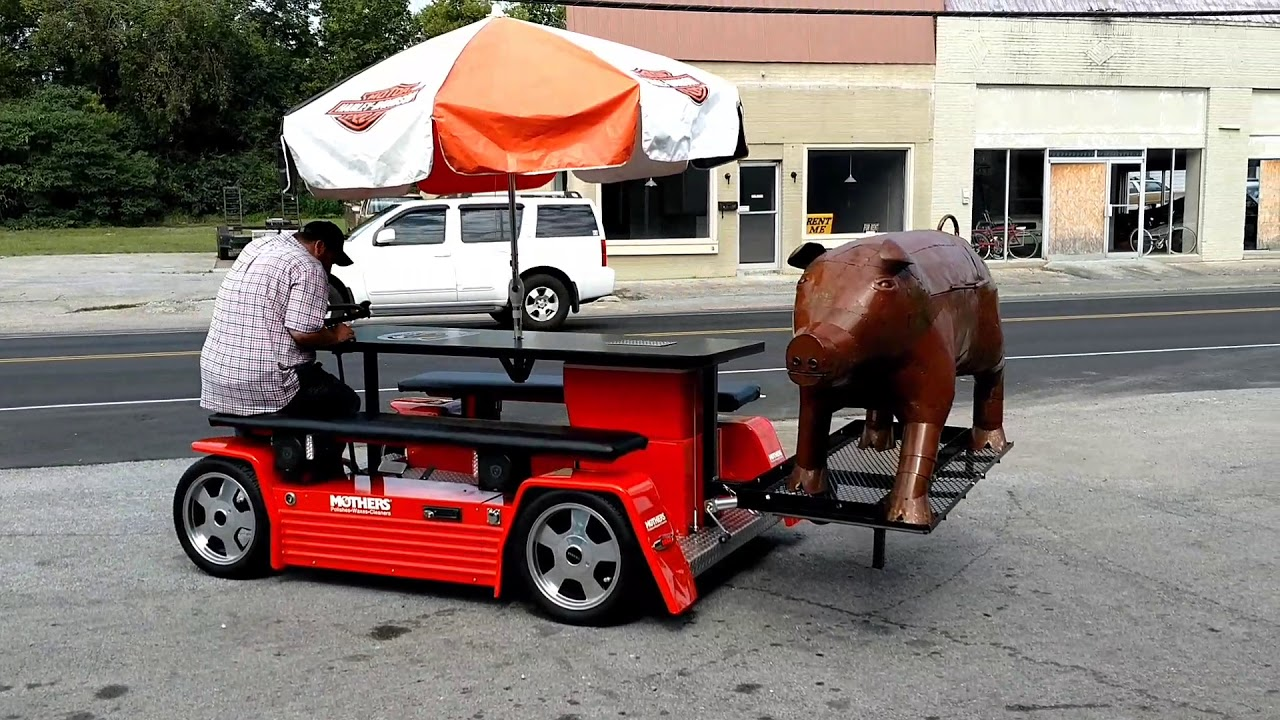 Motorized Picnic Table Tailgaters Dream YouTube - Motorized picnic table