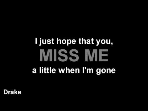 (Lyrics) :: Miss Me - Drake (feat. Lil Wayne)
