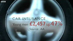 BBC News - Cost of car insurance for young drivers on the rise.flv